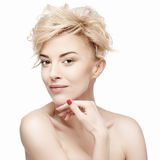 Portrait of a beautiful woman with clean skin Stock Image