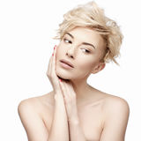 Portrait of a beautiful woman with clean skin Stock Photography