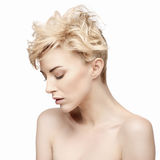 Portrait of a beautiful woman with clean skin Stock Images