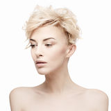 Portrait of a beautiful woman with clean skin Royalty Free Stock Photo
