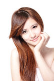Beautiful woman with clean skin and long hairs Stock Photo