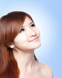 Beautiful woman with clean skin and long hairs Royalty Free Stock Photography
