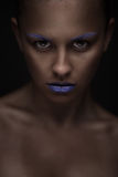 Portrait of beautiful woman with creative makeup Stock Images