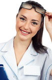 Portrait of a beautiful woman doctor Stock Photo