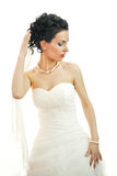 Portrait of a beautiful woman dressed as a bride. Royalty Free Stock Photo