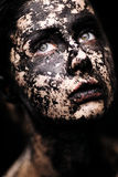 Portrait of beautiful woman - Dried skin concept Stock Image