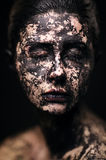 Portrait of beautiful woman - Dried skin concept Royalty Free Stock Image