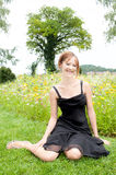 Portrait of a beautiful woman in elegant dress Royalty Free Stock Photography
