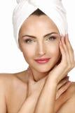 Portrait of a beautiful woman enjoying spa treatment Stock Images