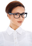 Portrait of beautiful woman in glasses Royalty Free Stock Photography