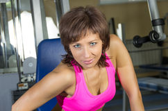 Portrait of beautiful woman at gym Royalty Free Stock Photography