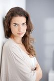 Portrait of beautiful woman at home Royalty Free Stock Photos