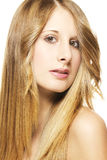 Portrait of a beautiful woman with long blonde hai Royalty Free Stock Photo