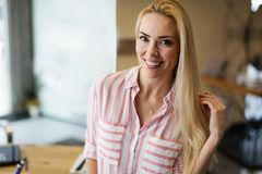 Portrait of beautiful woman with long hair Royalty Free Stock Images