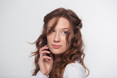 Portrait of a beautiful woman looking away Stock Image
