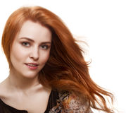 Portrait of beautiful woman with magnificent hair Royalty Free Stock Images