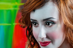 Portrait of beautiful woman with make-up Royalty Free Stock Photos