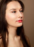 Portrait of beautiful woman with make-up Royalty Free Stock Photo