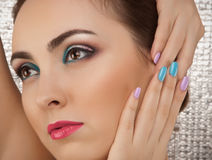 Portrait of beautiful woman with make-up Stock Image