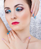 Portrait of beautiful woman with make-up Royalty Free Stock Images