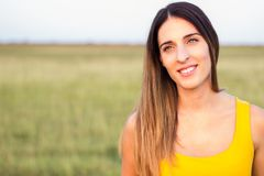Portrait of beautiful woman in meadow Royalty Free Stock Image