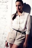 Portrait of beautiful woman model. Fashion photo Stock Photography