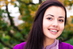 Portrait of a beautiful woman outdoor Royalty Free Stock Images
