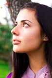 Portrait of a beautiful woman outdoor Royalty Free Stock Photography