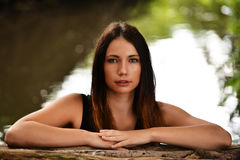 Portrait of beautiful woman Stock Images