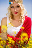 Portrait of beautiful woman outdoor Royalty Free Stock Image