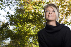 Portrait of a beautiful woman outdoors Stock Photos