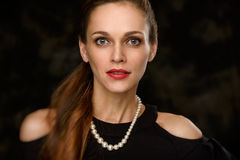 Portrait of a beautiful woman Stock Photography