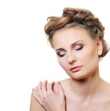 Portrait of the beautiful woman with a professional make-up Royalty Free Stock Images