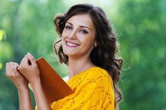 Portrait beautiful woman reading Royalty Free Stock Image
