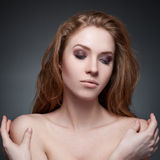 Portrait of beautiful woman Royalty Free Stock Photos