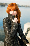 Portrait of a beautiful woman with red hair Royalty Free Stock Photography