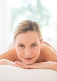 Portrait Of Beautiful Woman Relaxing At Spa Royalty Free Stock Photos