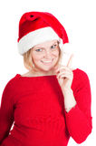 Portrait of beautiful woman santa Stock Images