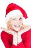Portrait of beautiful woman santa Royalty Free Stock Images