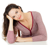 Portrait of beautiful woman sitting Royalty Free Stock Image
