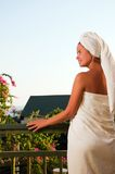Portrait of beautiful woman after spa Royalty Free Stock Image