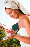Portrait of beautiful woman after spa Stock Image