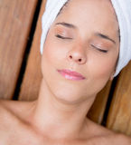 Woman at the spa Royalty Free Stock Images