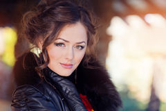 Portrait of a beautiful woman staring at the camera Royalty Free Stock Photos
