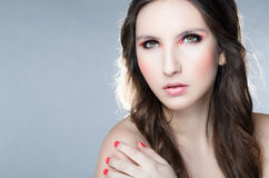 Portrait of the beautiful woman Stock Images