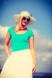 Portrait of beautiful woman during summer Royalty Free Stock Photos