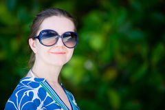 Portrait of beautiful woman in sun glasses Royalty Free Stock Photo