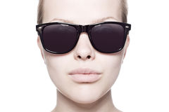 Portrait of a beautiful woman with sunglasses Royalty Free Stock Photo