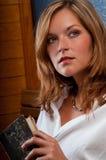 Portrait of beautiful woman thinking Royalty Free Stock Photography
