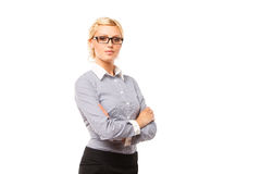 Portrait of beautiful woman wearing glasses. Royalty Free Stock Photography